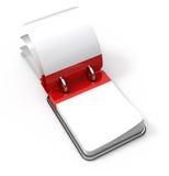 Calendrier de bureau blanc Photos libres de droits