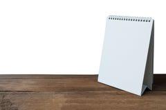 Calendrier de bureau blanc Images libres de droits