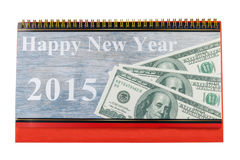 Calendrier de bureau et bonne année 2015 Photographie stock