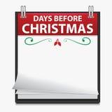 Calendrier de compte à rebours de Noël Image libre de droits