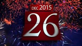 Calendrier de compte à rebours pendant la nouvelle année 2016 illustration stock