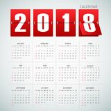 Calendrier de conception de 2018 Images libres de droits