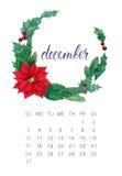Calendrier de décembre Images libres de droits
