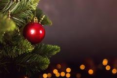 Calendrier de décoration de Noël de carte de voeux Photo stock