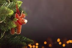Calendrier de décoration de Noël de carte de voeux Image stock