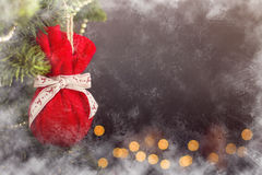 Calendrier de décoration de Noël de carte de voeux Photo libre de droits