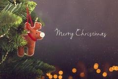 Calendrier de décoration de Noël de carte de voeux Photographie stock