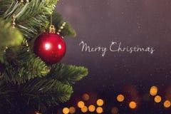 Calendrier de décoration de Noël de carte de voeux Images libres de droits