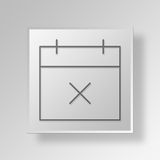 calendrier de 3D Gray Square Object Symbol Concept illustration de vecteur