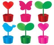 Calendrier de forme de pot de fleurs Photo stock