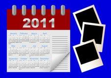 Calendrier de graphisme de vecteur pendant 2011 années. Image libre de droits