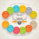 Calendrier 2015 de hippie Images libres de droits
