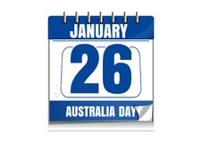 Calendrier de jour d'Australie Photographie stock