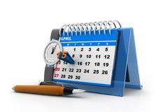 Calendrier de jour d'impôts Photographie stock libre de droits