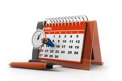 Calendrier de jour d'impôts Photo stock