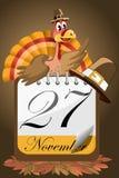 Calendrier de jour de la Turquie de thanksgiving Photos libres de droits