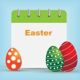 Calendrier de jour de Pâques Image libre de droits