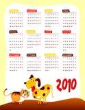Calendrier de l'année prochaine Photo stock