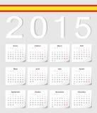 Calendrier de l'Espagnol 2015 illustration de vecteur