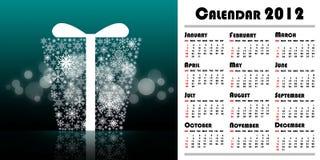 Calendrier de l'an neuf 2012 Images libres de droits