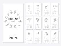 calendrier de la nouvelle année 2019 Photos libres de droits