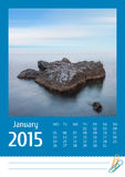 Calendrier de la photo Print2015 décembre Photos libres de droits