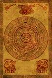 Calendrier de Maya Photo libre de droits