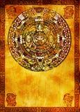Calendrier de Maya Photos libres de droits
