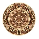 Calendrier de Maya des signes et des symboles maya ou aztèques d'hiéroglyphe de vecteur illustration stock