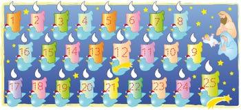 Calendrier de Noël Photos libres de droits