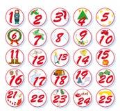 Calendrier de Noël Images libres de droits