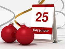 Calendrier de Noël Photo stock