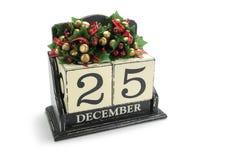 Calendrier de Noël Image stock