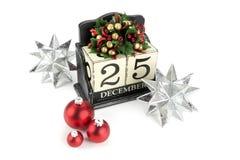 Calendrier de Noël Photographie stock libre de droits