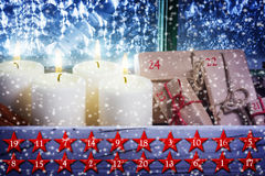 Calendrier de Noël, Advent Calendar Photographie stock