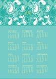 Calendrier 2015 de Paisley Photographie stock