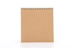 calendrier de papier sur le blanc Image stock
