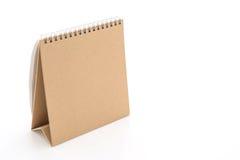 calendrier de papier sur le blanc Photo stock