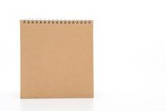 calendrier de papier sur le blanc Photos libres de droits