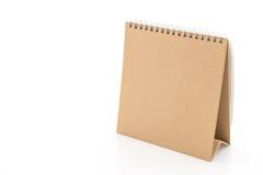 calendrier de papier sur le blanc Photo libre de droits