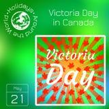 Calendrier de série Vacances autour du monde Événement de chaque jour de l'année Victoria Day dans le Canada Image libre de droits