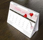 Calendrier 2015 de valentine de février Photo stock