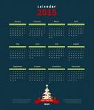 Calendrier 2015 de vecteur illustration stock