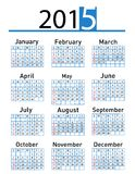 calendrier de vecteur de 2015 ans Photo stock