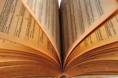 Calendrier de vieux livre 125 ans Images libres de droits