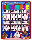 Calendrier du décembre 2010 Image stock
