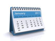 Calendrier du janvier 2011 Images stock