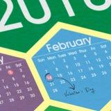 Calendrier du jour de Valentine Image libre de droits