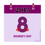 Calendrier du jour des femmes - illustration Image libre de droits