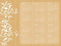 Calendrier en bois 2009 Illustration Stock